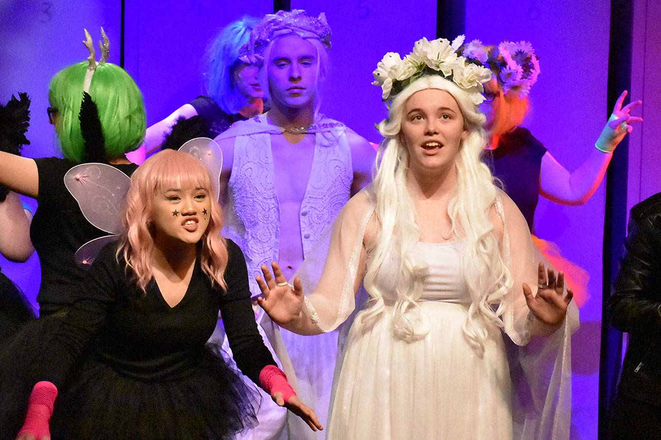"""Contributed photo/ Kelley Balcomb-Bartok                                 The Friday Harbor High School Drama Group in a """"A Midsummer Night's Dream."""""""